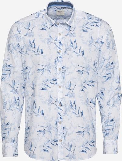OLYMP Риза 'Level 5' в синьо / бяло: Изглед отпред