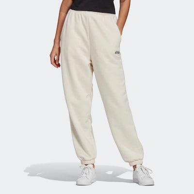 ADIDAS ORIGINALS Broek in de kleur Zwart / Wit / Wolwit, Modelweergave