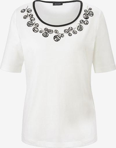Basler T-Shirt mit floralem Front-Print in wollweiß, Produktansicht