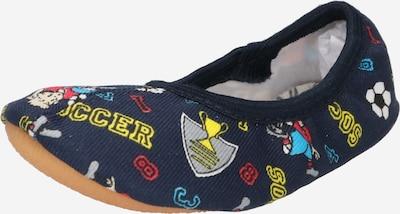 BECK Mājas apavi zils / tumši zils / dzeltens / pelēks / sarkans / melns / balts, Preces skats