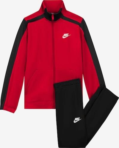 Nike Sportswear Jogginganzug in rot / schwarz / weiß, Produktansicht