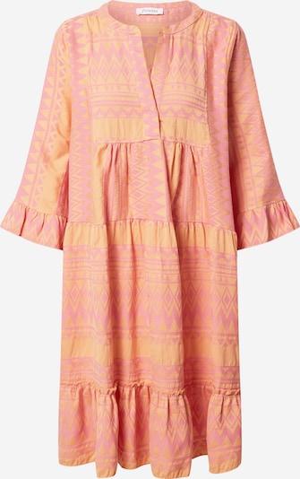 Flowers for Friends Robe-chemise en orange / rose, Vue avec produit