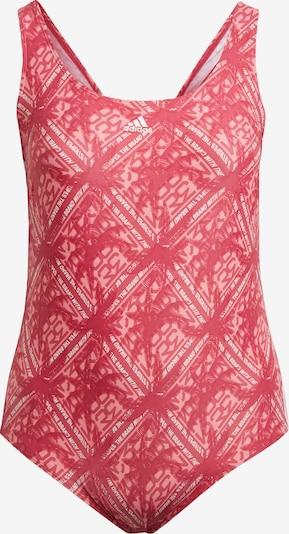 ADIDAS PERFORMANCE Badeanzug in pitaya / weiß, Produktansicht