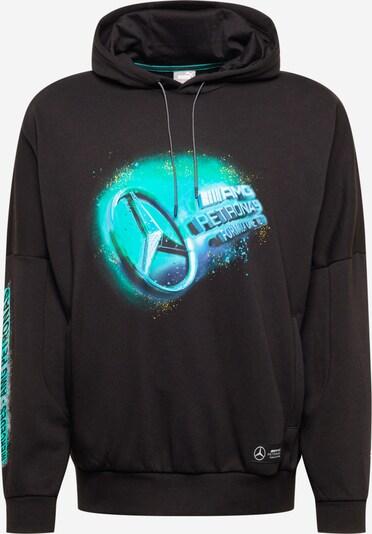 PUMA Sportsweatshirt in hellblau / hellgrün / schwarz / weiß, Produktansicht