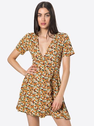 24COLOURS Kleid in creme / jade / pflaume / orange / schwarz, Modelansicht