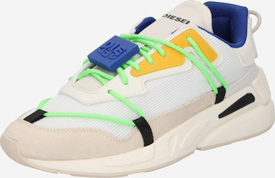 DIESEL Sneaker 'S-SERENDIPITY' in kitt / royalblau / gelb / neongrün / weiß, Produktansicht