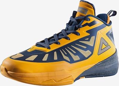 PEAK Basketballschuh 'Lightning III' in dunkelblau / gelb, Produktansicht