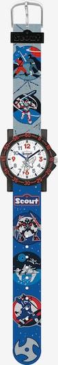 SCOUT Uhr in opal / royalblau / rot / schwarz, Produktansicht