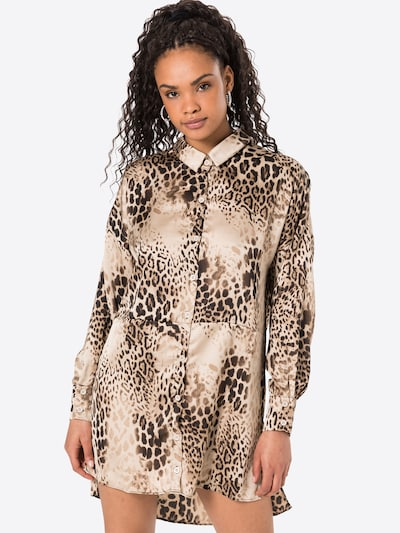 Missguided Kleid in beige / champagner / braun, Modelansicht