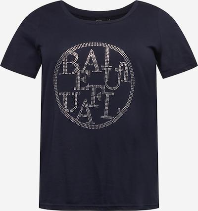 Zizzi T-shirt 'MBREE' i nattblå / silver, Produktvy