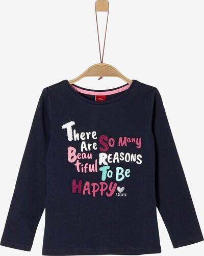 s.Oliver Shirt in dunkelblau / rosa / weiß, Produktansicht