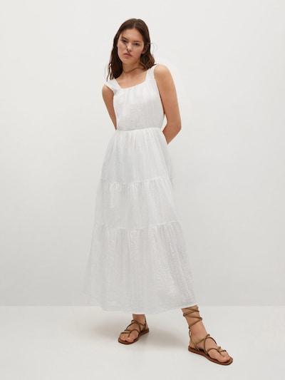 MANGO Kleid 'COQUET' in weiß, Modelansicht