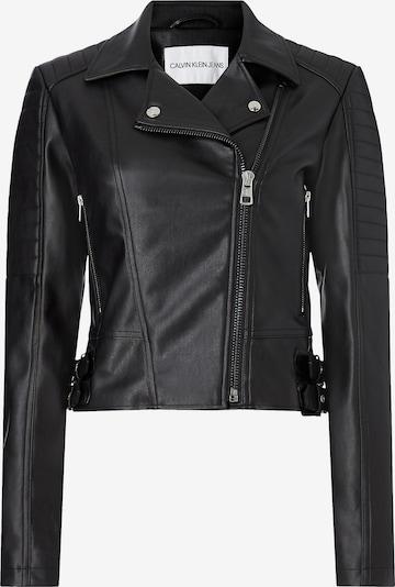 Calvin Klein Jeans Bikerjacke in schwarz: Frontalansicht