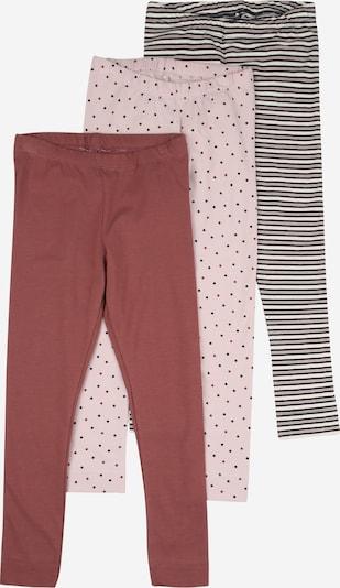 NAME IT Leggings in grau / lila / pink: Frontalansicht