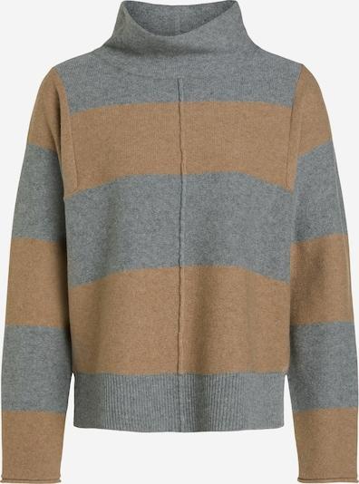 OUI Pullover in camel / grau, Produktansicht