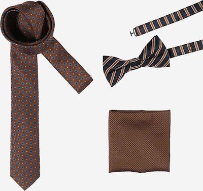 JACK & JONES Cravate 'BENJAMIN' en bleu marine / bleu fumé / rouille / blanc, Vue avec produit