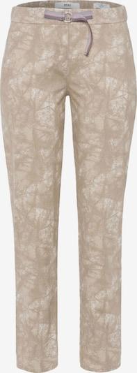 Pantaloni 'STYLE.MEL' BRAX pe maro / alb, Vizualizare produs