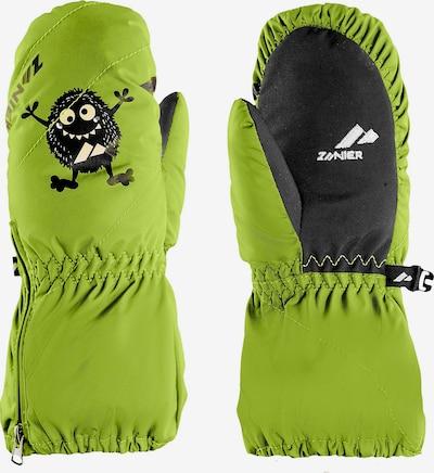 Zanier Fausthandschuhe in grün / schwarz, Produktansicht
