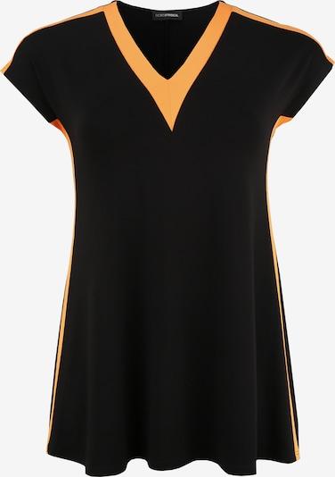 Doris Streich Tunika mit Kontrastverarbeitung in schwarz, Produktansicht