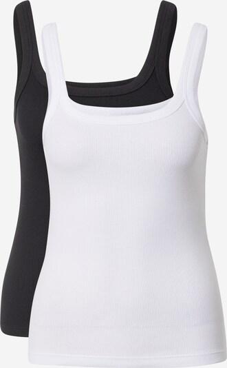 WEEKDAY Top 'Cat' in schwarz / weiß, Produktansicht