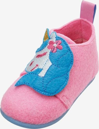 PLAYSHOES Kapcie 'Einhorn' w kolorze mieszane kolory / różowy pudrowym, Podgląd produktu