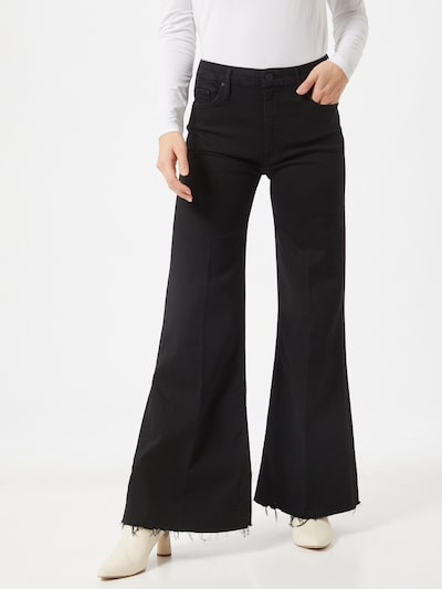 MOTHER Jeans 'The Roller' in black denim, Modelansicht
