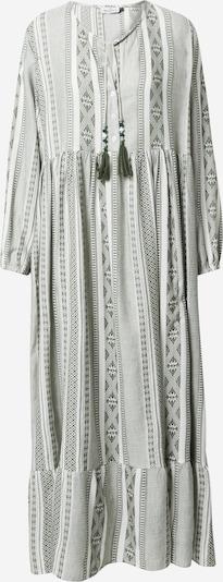 Zwillingsherz Kleid 'Marou' in dunkelgrün / weiß, Produktansicht