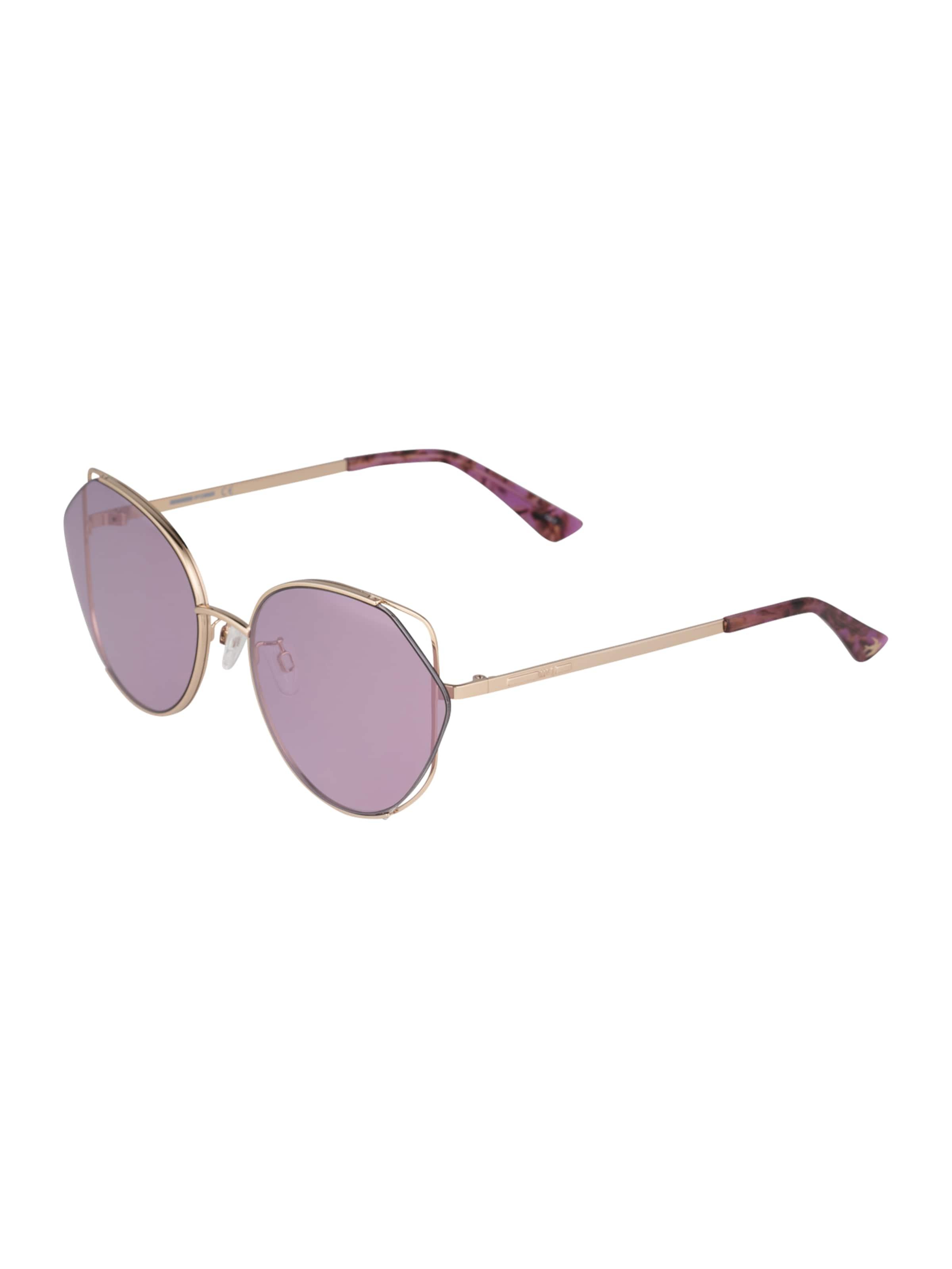 McQ Alexander McQueen Solglasögon 'MQ0286SA 004' i guld / violettblå