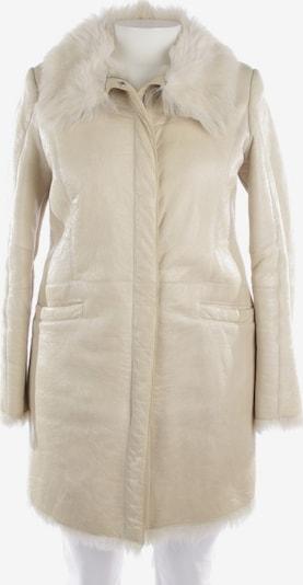 PRADA Ledermantel in XL in creme, Produktansicht