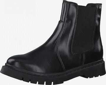 TAMARIS Chelsea Boots in Schwarz
