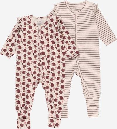 Hust & Claire Schlafanzug 'Idun' in beige / beere, Produktansicht