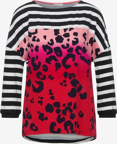 Tricou STREET ONE pe roz / roșu / negru / alb, Vizualizare produs