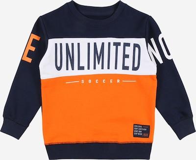 STACCATO Sweatshirt in marine / orange / weiß, Produktansicht