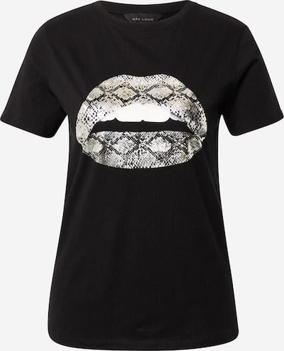 NEW LOOK Shirt in beige / schwarz / silber / weiß, Produktansicht