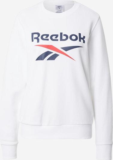 REEBOK Sportsweatshirt in dunkelblau / rot / weiß, Produktansicht