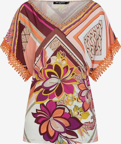 Ana Alcazar Top ' Durina ' in de kleur Bruin / Geel / Sinaasappel, Productweergave