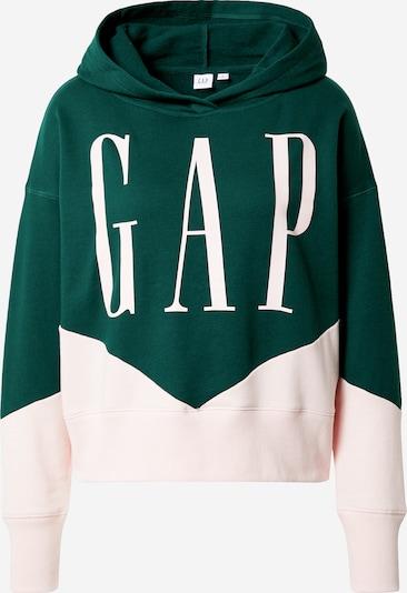 GAP Sweatshirt 'SPLICE' i mørkegrøn / lys pink / hvid, Produktvisning