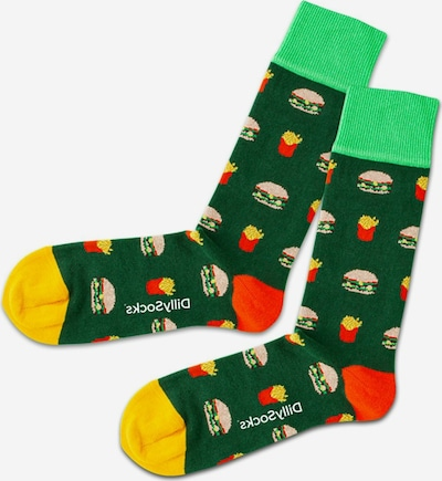 DillySocks Calcetines en verde / mezcla de colores, Vista del producto