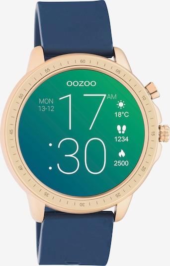 OOZOO Smartwatch in dunkelblau / gold, Produktansicht