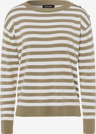 MORE & MORE Pullover in grün / weiß, Produktansicht