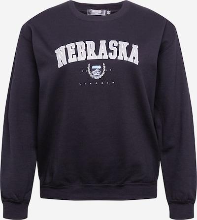 Missguided Plus Sweat-shirt 'NEBRASKA' en noir / blanc, Vue avec produit