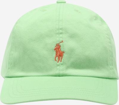 Pălărie Polo Ralph Lauren pe maro coniac / verde limetă, Vizualizare produs