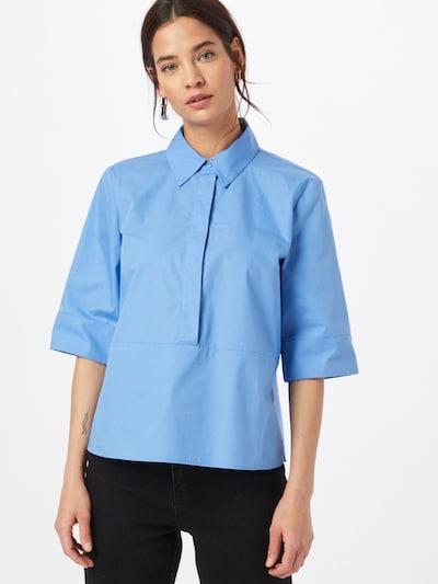 Someday Bluse 'Zarbene' in blau, Modelansicht