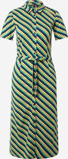 King Louie Robe-chemise 'Rosie' en bleu / jaune / menthe / noir / blanc, Vue avec produit