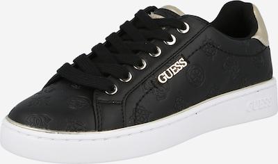 Sneaker low 'BECKIE' GUESS pe maro cappuccino / auriu / negru, Vizualizare produs