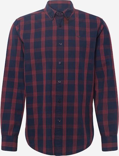 MUSTANG Hemd 'Clemens' in navy / rot, Produktansicht