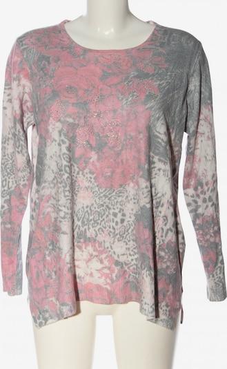 Ovanti Strickpullover in XL in hellgrau / pink / weiß, Produktansicht