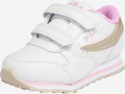 FILA Schuhe 'Orbit Velcro' in gold / rosa / weiß: Frontalansicht