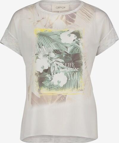 Tricou Cartoon pe crem / bej deschis / galben deschis / verde pastel / alb natural, Vizualizare produs
