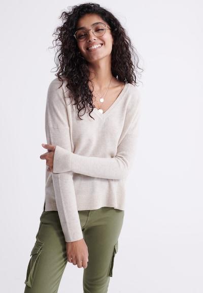 Superdry Pullover 'Edit Premium' in beigemeliert, Modelansicht